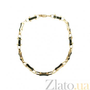 Золотой браслет с эмалью Харизма 2Б088-0109