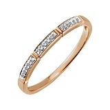 Кольцо Мария из красного золота с бриллиантами