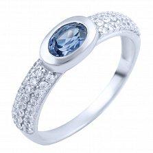 Серебряное кольцо Алсу с александритом и фианитами