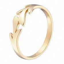 Кольцо в желтом золоте Пальмовая ветвь