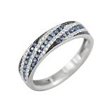 Золотое кольцо с сапфирами и бриллиантами Морской прилив