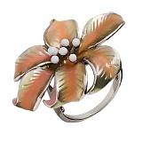 Серебряное кольцо с эмалью Фаина