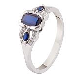 Золотое кольцо с сапфирами и бриллиантами Елизавета