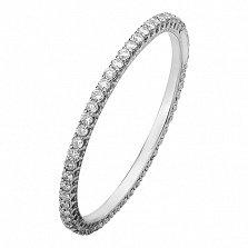 Золотое кольцо в белом цвете с бриллиантами Сiчень