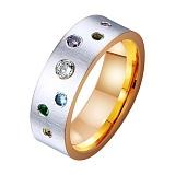 Золотое обручальное кольцо с фианитами Звездное сияние