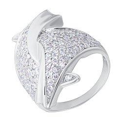 Серебряное кольцо с фианитами 000132867