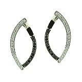 Золотые серьги с чёрными и белыми бриллиантами Андреа