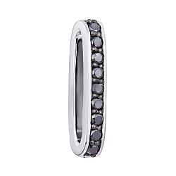 Двусторонний кулон из белого золота с черными и белыми бриллиантами 000117265