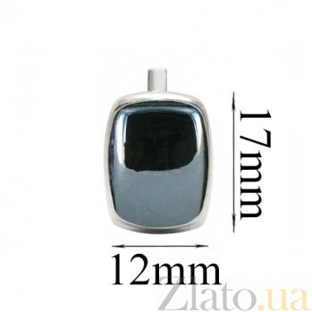 Серебряные серьги с гематитом Эмма BGS--766с гем