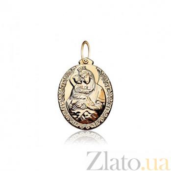 Золотая ладанка Божья Матерь Владимирская EDM--П0134