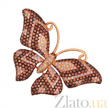 Подвеска из красного золота Бабочка VLT--ТТ3367-4
