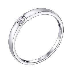 Серебряное кольцо с бриллиантом 000123335