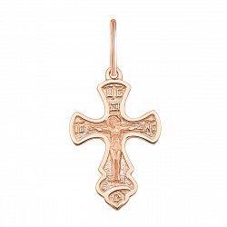 Крестик в красном золоте Храни тебя Господь 000101710