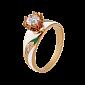Золотое кольцо с цветной эмалью и бриллиантами Беззаботное счастье 000029378
