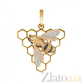 Подвеска Медовая пчела из желтого золота VLT--ТТ3481-1