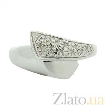 Серебряное кольцо бриллиантами Дениз ZMX--RD-6060-Ag_K