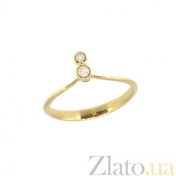 Кольцо из желтого золота с бриллиантами Дуалити ZMX--RD-00267_K