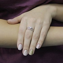 Серебряное кольцо Вечное чувство с фианитами