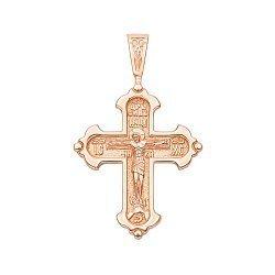 Крестик из красного золота 000136251