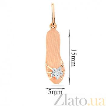 Золотая подвеска Обувь принцессы SUF--420276