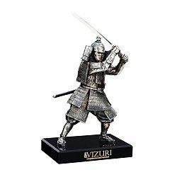 Бронзовая скульптура Самурай с мечом на обсидиановой подставке 000051967