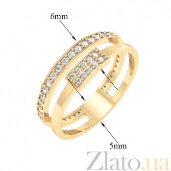 Кольцо из красного золота Кортни с фианитами 000098682