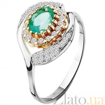 Золотое кольцо с изумрудом Влюбленность KBL--К1523/бел/изум