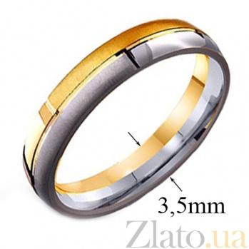 Золотое обручальное кольцо Идиллия любви TRF--441675
