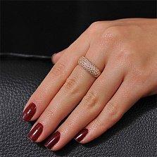 Золотое кольцо Блик с фианитами