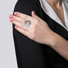 Серебряное кольцо с муранским стеклом Августа