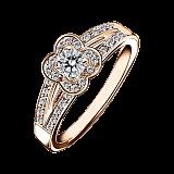 Кольцо в розовом золоте с микро-павє Chance of Love