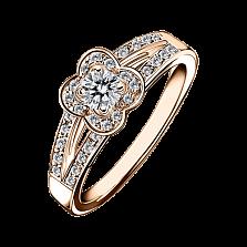 Кольцо в розовом золоте с микро-паве Chance of Love