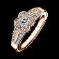 Кольцо в розовом золоте с микро-паве Chance of Love R-CL-R-diam-diam