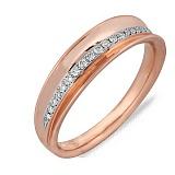 Кольцо из красного золота с бриллиантами Даяна