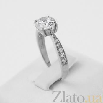 Кольцо из белого золота с цирконием Беатрис VLN--212-778*
