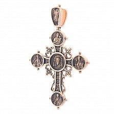 Золотой крест с чернением Богоявление