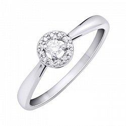 Помолвочное кольцо из белого золота с бриллиантами 000104390