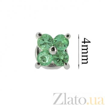 Серебряные сережки с изумрудами Мэри ZMX--EE-6560-Ag_K