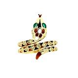 Кольцо из желтого золота с изумрудами, эмалью и бриллиантами Мудрая