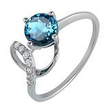 Серебряное кольцо с кварцем London blue Яна