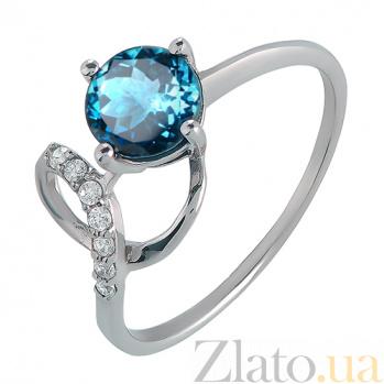 Серебряное кольцо с кварцем London blue Яна 000013480