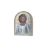 Серебряная икона Иисус Христос