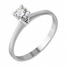 Кольцо из белого золота с бриллиантом Анастасия