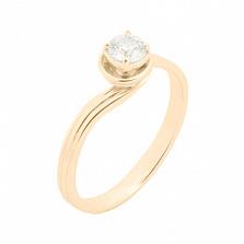 Кольцо в желтом золоте Флорина с фианитом