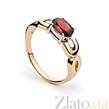 Золотое кольцо Кармен с гранатом SG--26050480