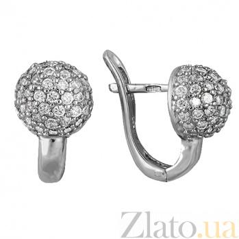 Серебряные серьги с фианитами Прага SLX--С2Ф/346