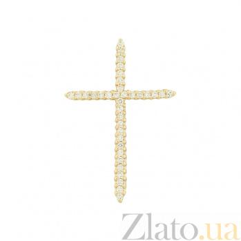Золотой крестик с фианитами Луч 2П220-0096