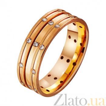 Золотое обручальное кольцо с фианитами Сердце ангела TRF--412389