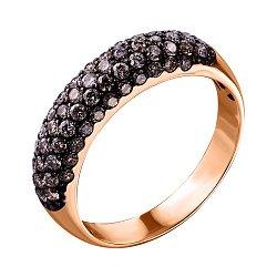 Кольцо из красного золота с бриллиантами 000139815