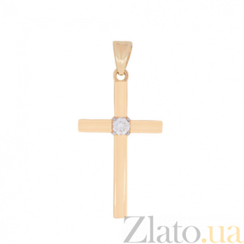 Крестик в красном золоте Гармония с бриллиантом SVA--3100787201/Бриллиант